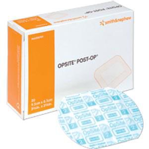 """Opsite Post Op Dressing with Absorbent Pad, 4-3/4"""" x 4"""""""
