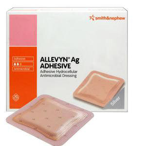 "Allevyn Ag Adhesive Absorbent Silver Hydrocellular Dressing 3"" x 3"""