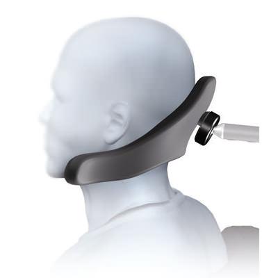 Contoured cradle linx single pad headrest