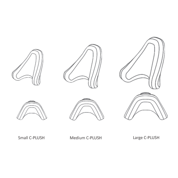 C-plush onyx single pad headrest pads