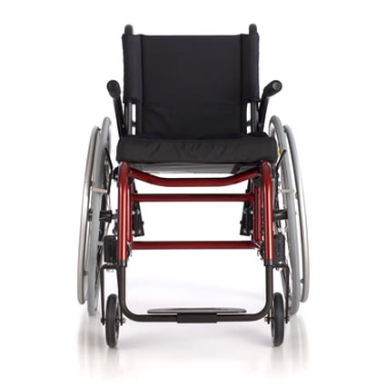 Quickie GP/GPV ultralight wheelchair front view