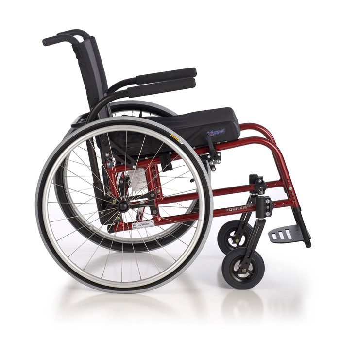 Quickie GP swing-away wheelchair side view