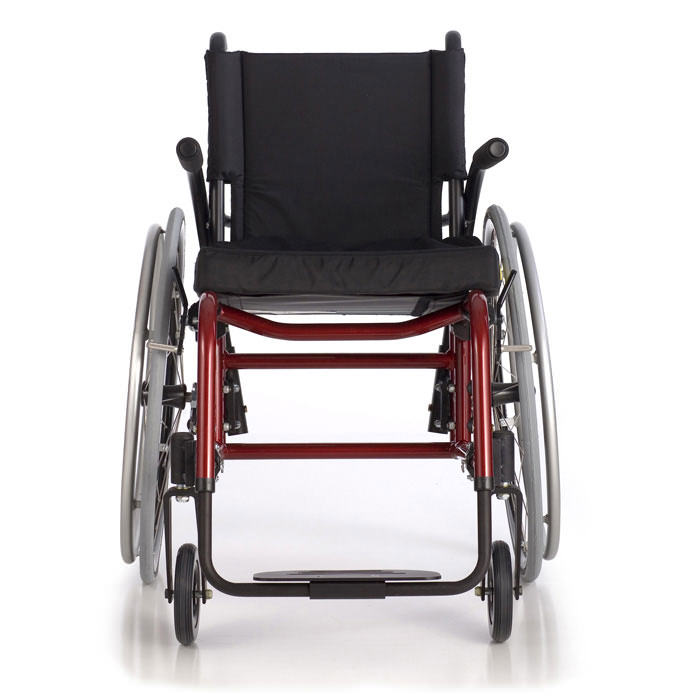Quickie GP swing-away wheelchair front view