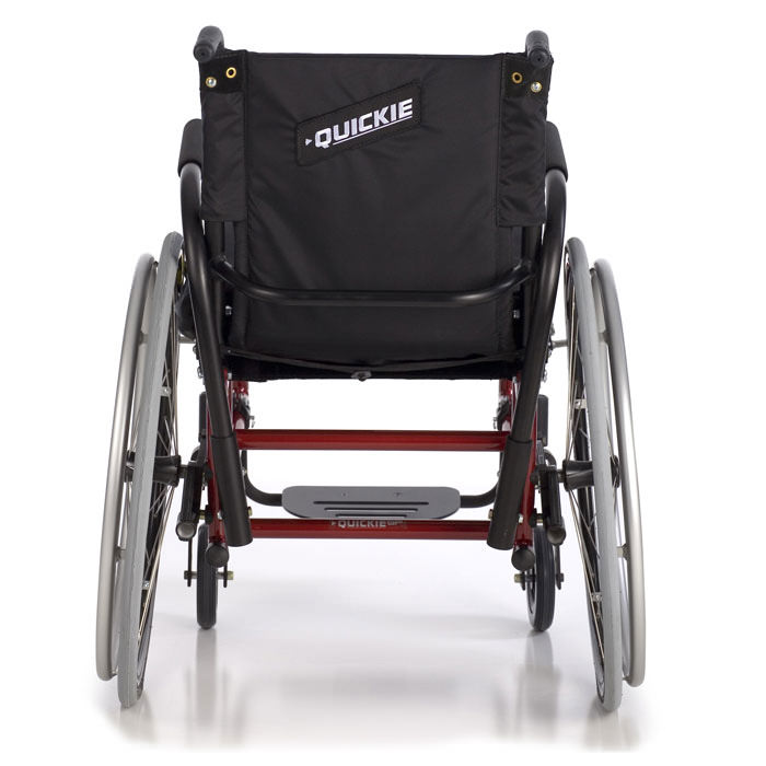 Quickie GP swing-away wheelchair back view