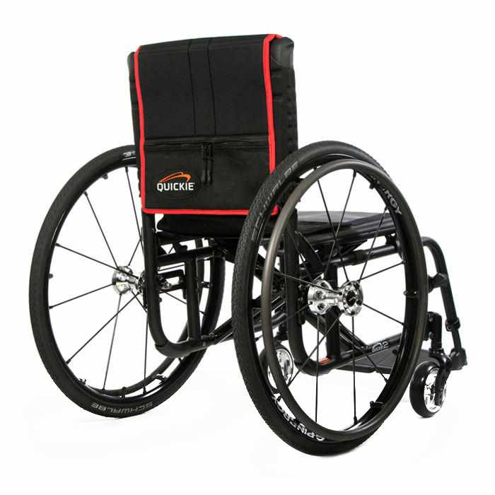 Quickie 2 lightweight wheelchair back view