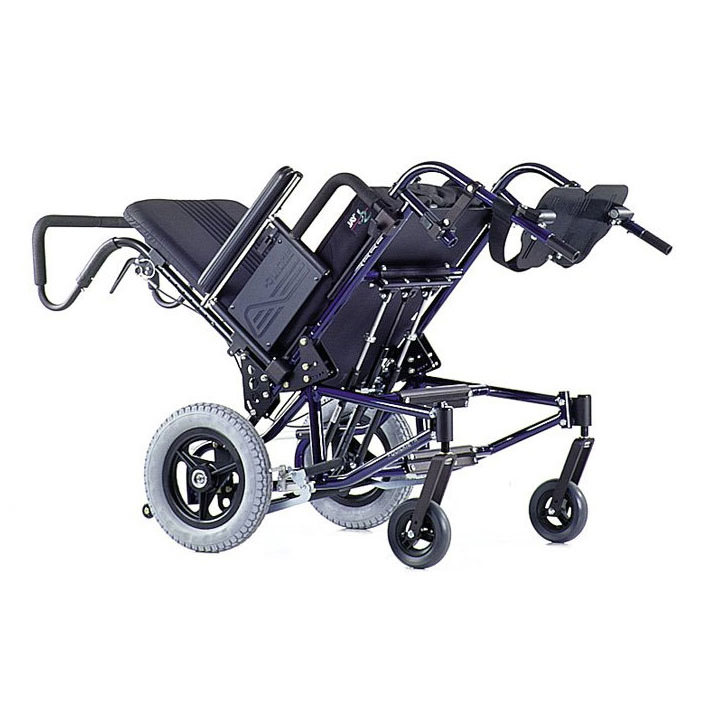 Quickie TS tilt manual wheelchair tilted