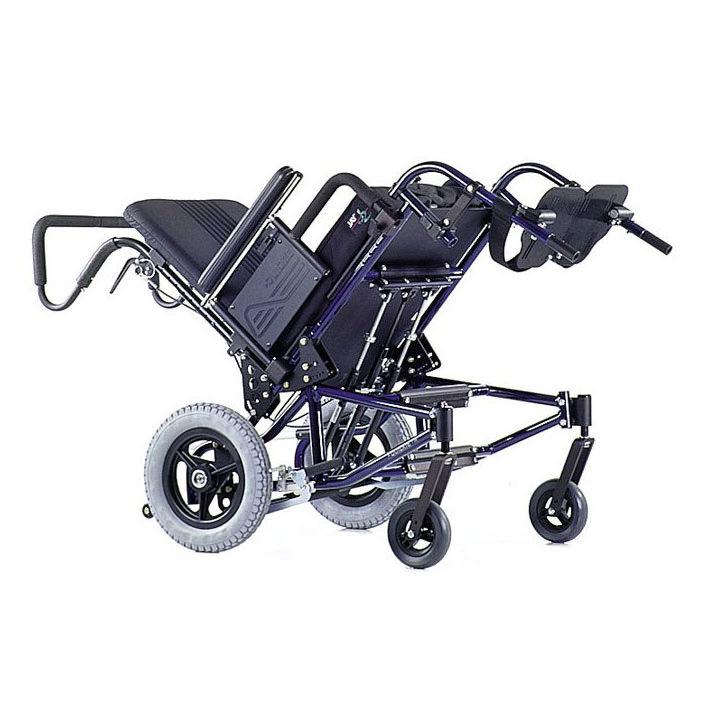 Quickie TS tilt manual wheelchair tilted