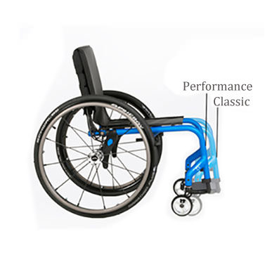 Quickie 5R rigid ultralight wheelchair side view