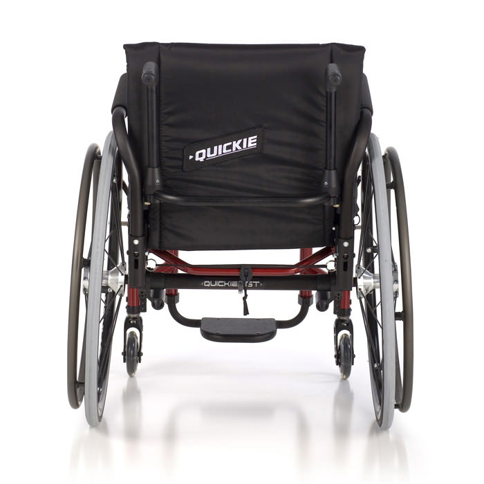 GT ultralight manual wheelchair back view