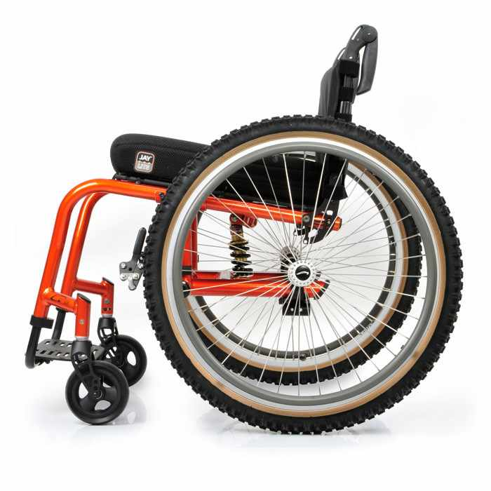 Quickie GT wheelchair side view