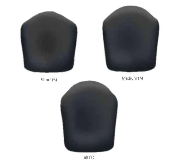 J3 posterior deep contour back size