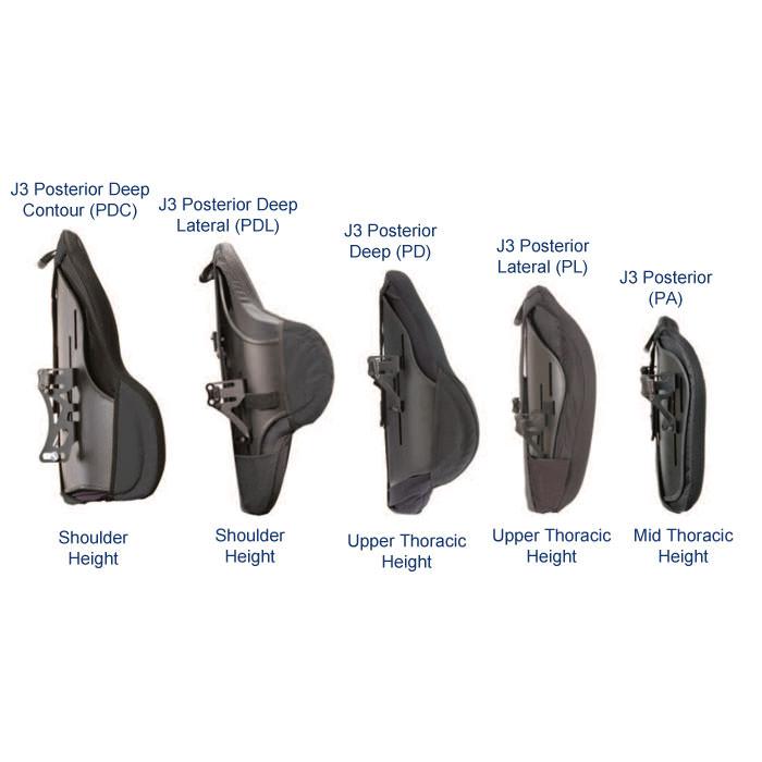 J3 posterior deep contour backrest