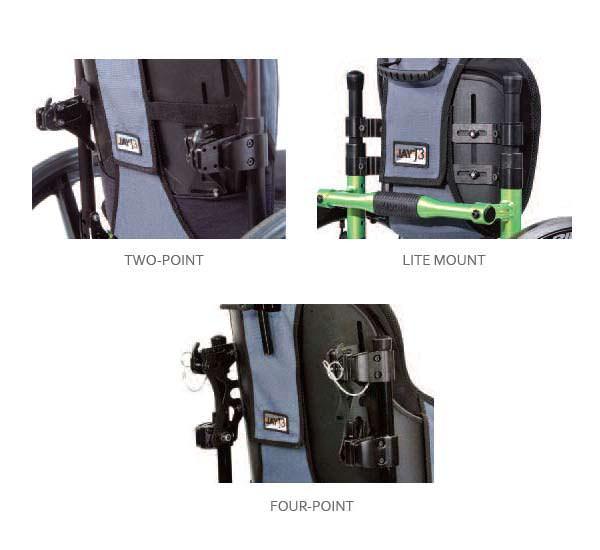 Jay J3 heavy duty posterior back mount type