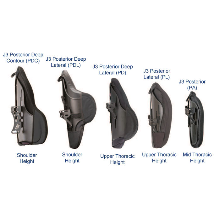 J3 heavy duty posterior back height level