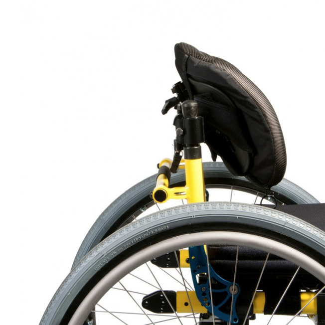 Jay Zip pediatric backrest on wheelchair