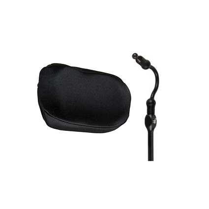 Whitmyer plush cobra XTRA flip back single pad headrest
