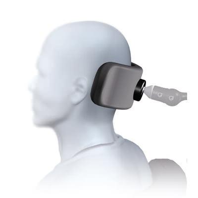 Plush cobra XTRA flip back single pad headrest system