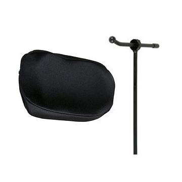 Plush onyx single pad headrest system