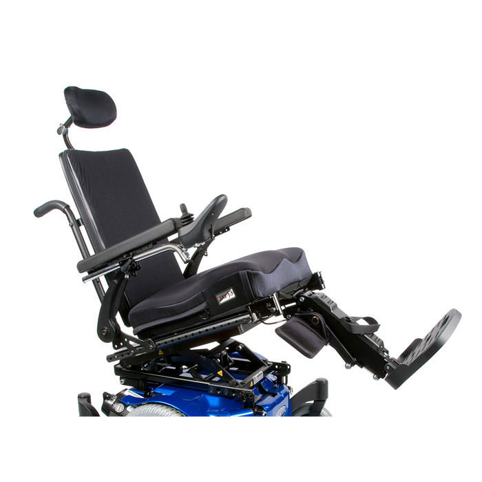 Quickie pulse 5 power wheelchair tilted seat