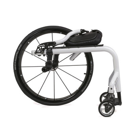 Quickie 7RS rigid wheelchair back folded