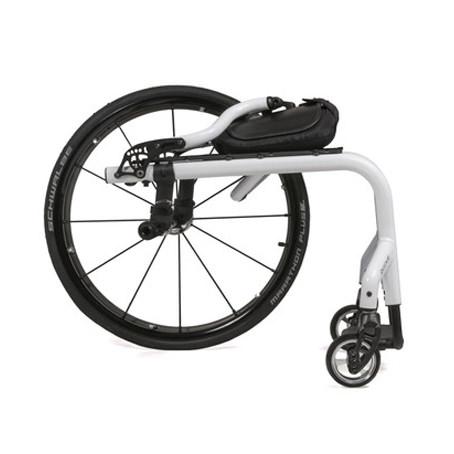 7R rigid wheelchair back folded