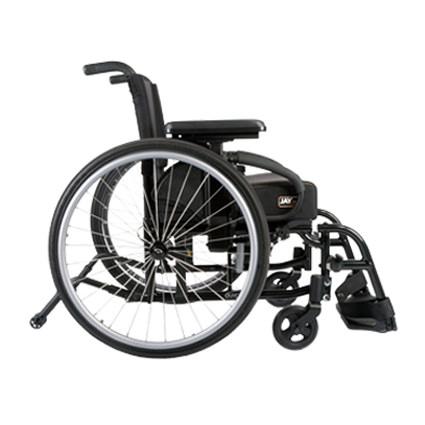 QX lightweight wheelchair side view