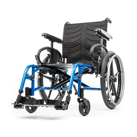 Quickie QX wheelchair front view