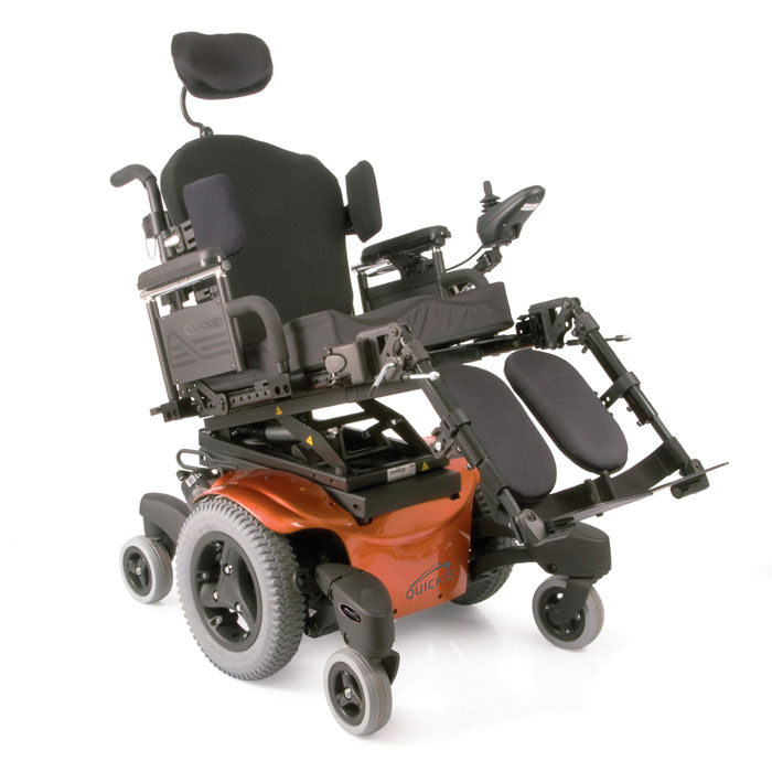 QM-710 wheelchair tilted