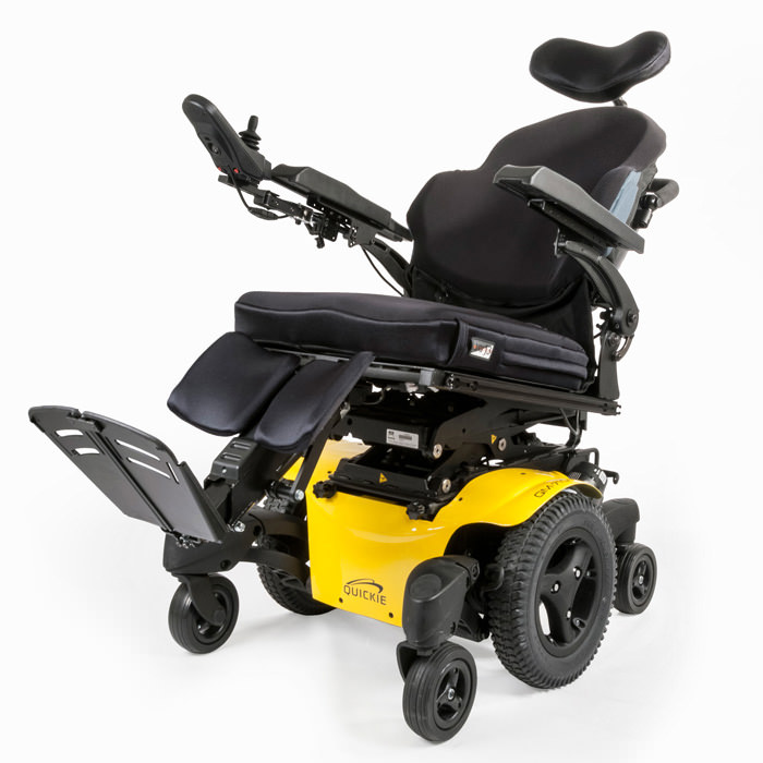 QM-715 wheelchair tilted