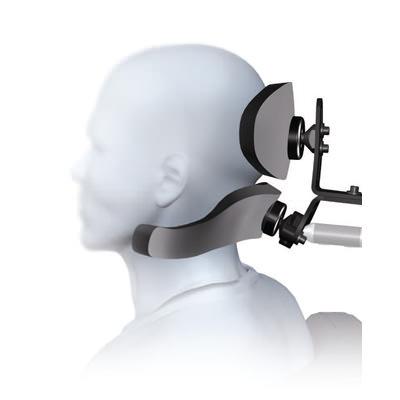 S.O.F.T. Single sub-occipital cobra flip back headrest system