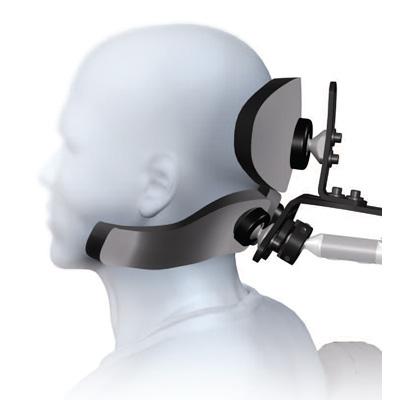 S.O.F.T. pediatric dual sub-occipital cobra flip back headrest