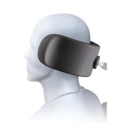 Specialty plush onyx single pad headrest system