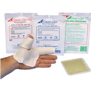 "Elasto-Gel Plus wound dressing with tape, 4"" x 4"""
