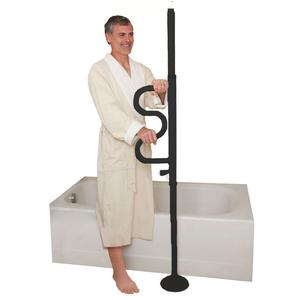Stander Security Pole and Curve Grab Bar