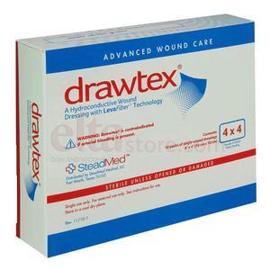 "Steadmed drawtex hydroconductive dressing with levafiber 4"" x 4"""