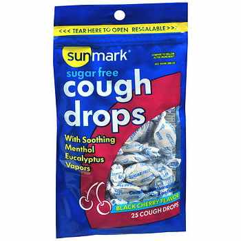 Sunmark Cherry Flavor Cold and Cough Relief 5.8 mg Strength