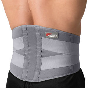Swede-O Thermal Lumbar Support, gray, extra large
