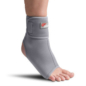 Swede-O Thermal Ankle Wrap, gray, medium