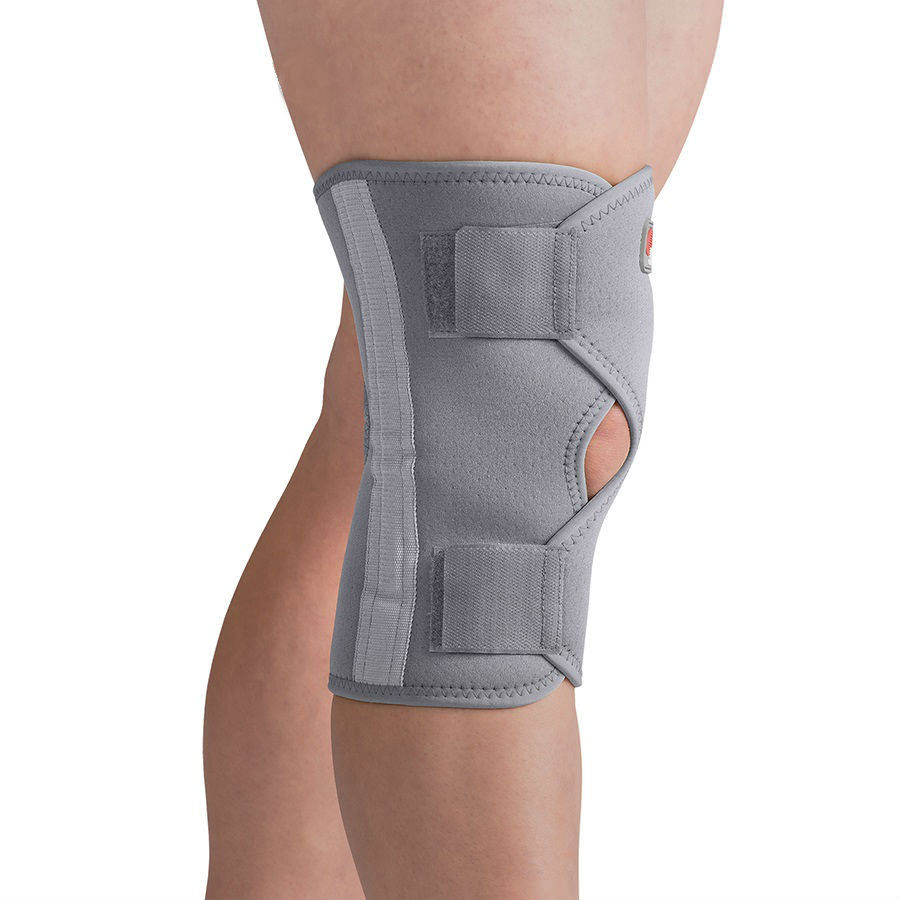 Swede-O Thermal Open Knee Wrap Stabilizer, gray, medium