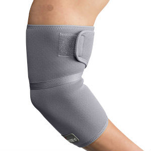 Swede-O Thermal Elbow Wrap, gray, large