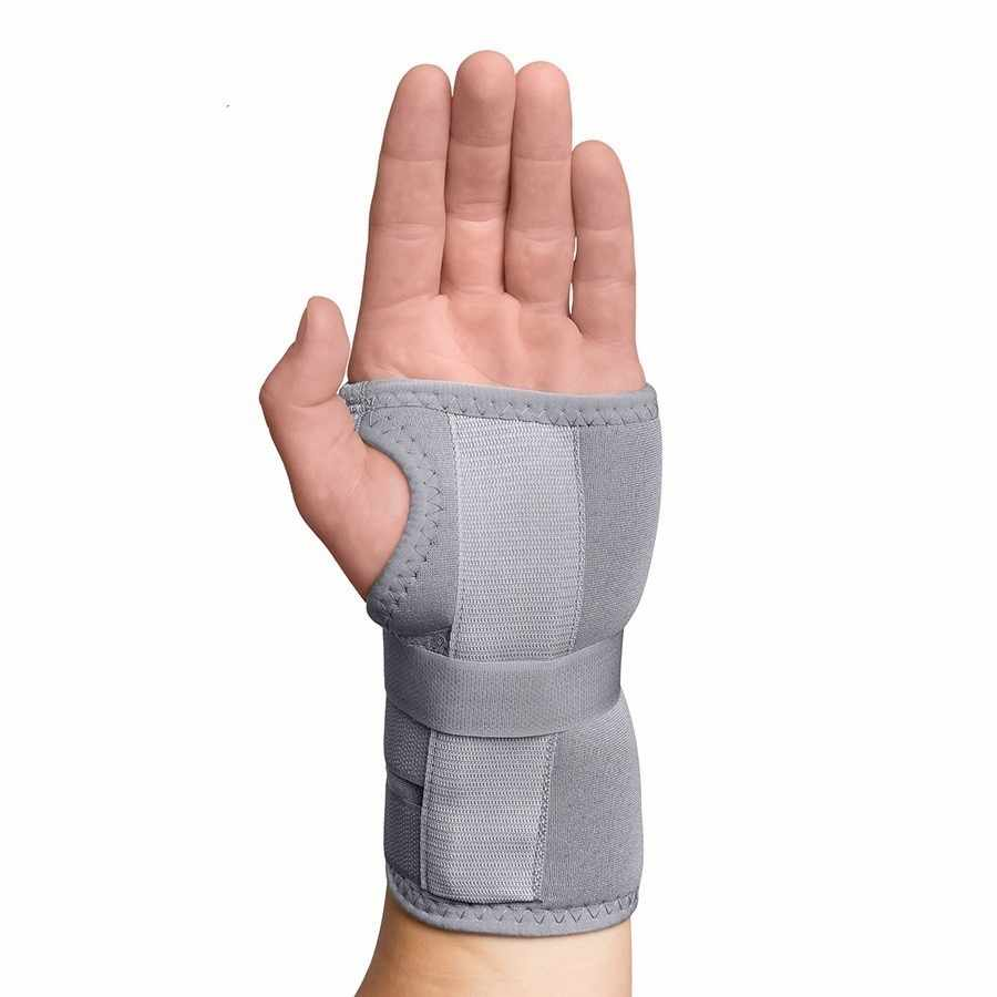 Swede-O Thermal Carpal Tunnel Immobilizer Brace, gray, large, left