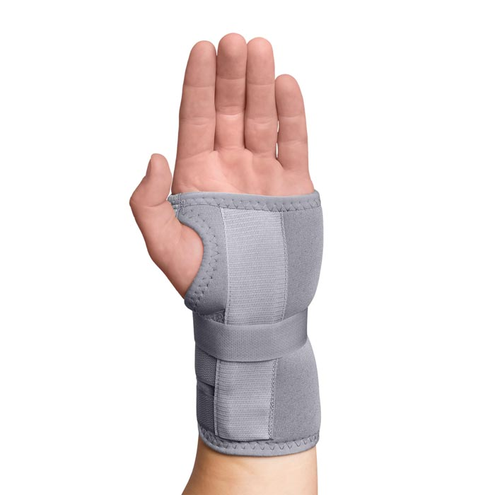 Swede-O Thermal Carpal Tunnel Immobilizer Brace, gray, extra large, right