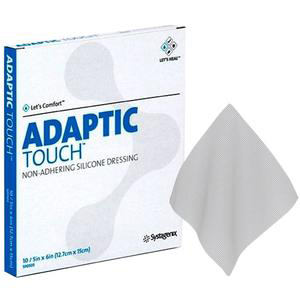 """Systagenix Adaptic Touch Non-Adhering Silicone Dressing, 5"""" x 6"""""""