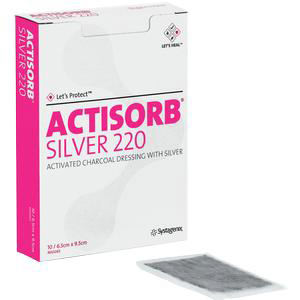 """Systagenix Actisorb Silver Antimicrobial Dressing Actisorb, 2-1/2"""" x 3-3/4"""""""