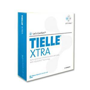 "Systagenix TIELLE Adhesive Hydropolymer Dressing, LiquaLock technology, 7"" x 7"""