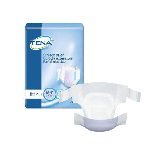 Tena Stretch Plus Moderate Absorbency Adult Incontinent Brief
