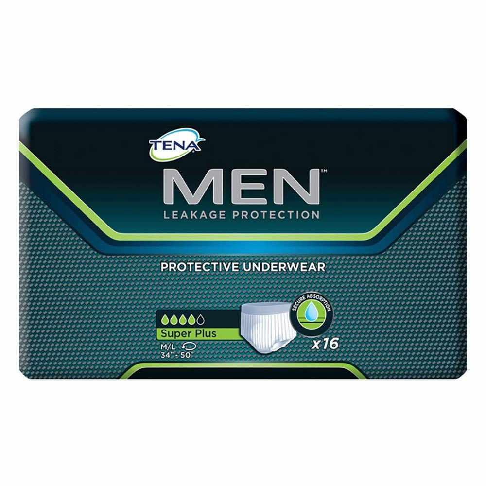 "Tena Men Super Plus Absorbency Protective Underwear, 34"" to 50"""
