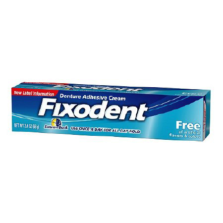 Fixodent Denture Adhesive Cream, 2.4 oz.