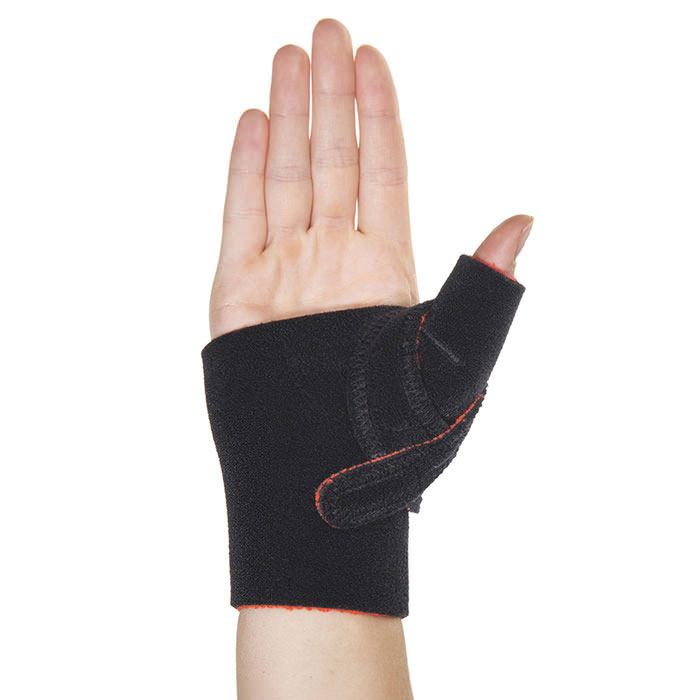 Thermoskin Cross-X CMC Thumb Splint, Right, Black