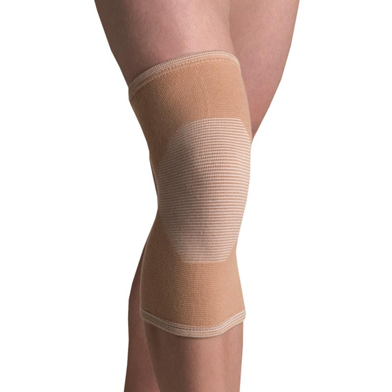 Thermoskin Compression Elastic Knee Support with 4-Way, Beige